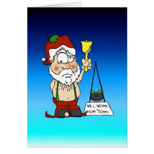 Poor Santa Card