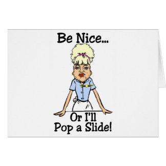 pop a slide card