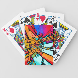 Pop Art Abstract Bicycle Playing Cards