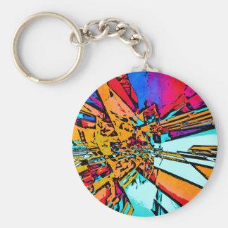 Pop Art Abstract Keychain