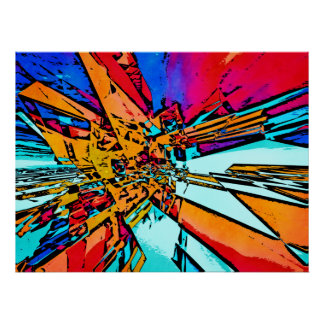 Pop Art Abstract Poster