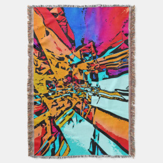 Pop Art Abstract Throw Blanket