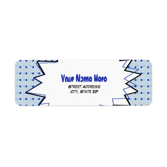 Pop Art Address Label - Blue