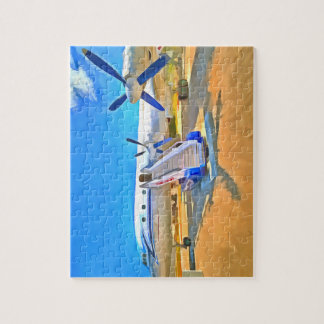 Pop Art Airliner Jigsaw Puzzle