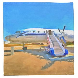 Pop Art Airliner Napkin
