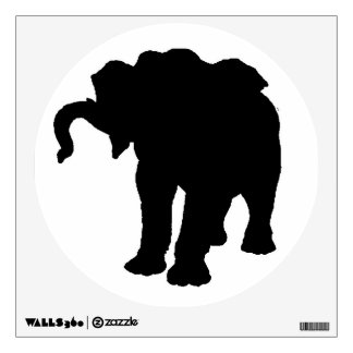 Pop Art Baby Elephant Silhouette Wall Decal