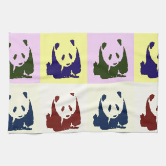 Pop Art Baby Pandas Kitchen Towel