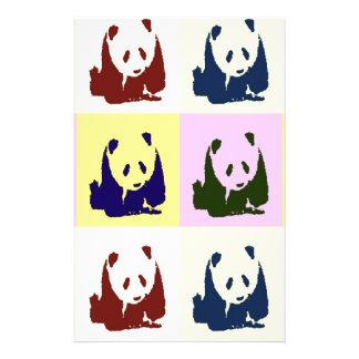 Pop Art Baby Pandas Stationery Paper