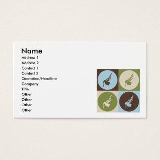 Pop Art Bagpipes Business Card