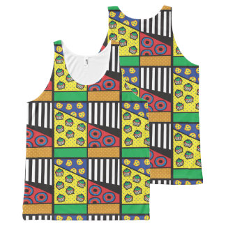 Pop Art Bakery All Over Mosaic Tank Top