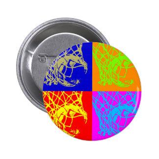 Pop Art Basketball 2 Inch Round Button