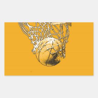 Pop Art Basketball Rectangle Sticker
