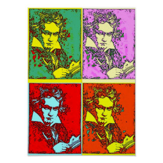 Pop Art Beethoven Poster