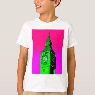 Pop Art Big Ben London Travel Pink Green T-Shirt