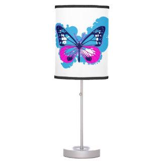 Pop Art Blue Butterfly Lamp