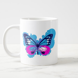 Pop Art Blue Butterfly Mug