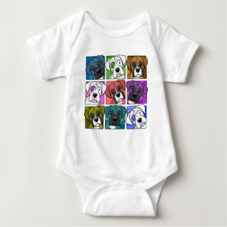 Pop Art Boxer Baby Bodysuit
