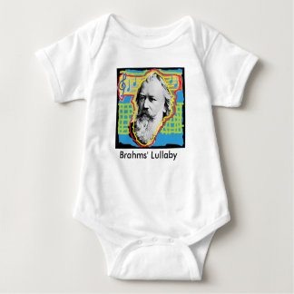 Pop Art Brahms Lullaby baby romper