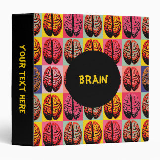 Pop Art Brain 3 Ring Binder