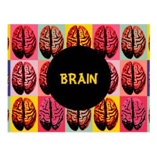 Pop Art Brain Postcard
