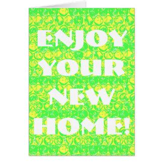 Pop art bubble wrap housewarming card