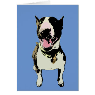 Pop Art Bull Terrier Card