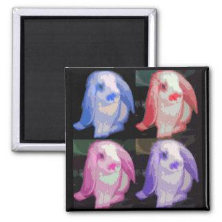 pop art bunnies magnet