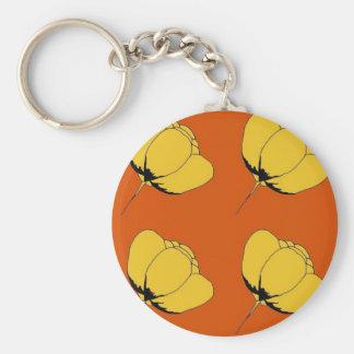 Pop art buttercup basic round button keychain
