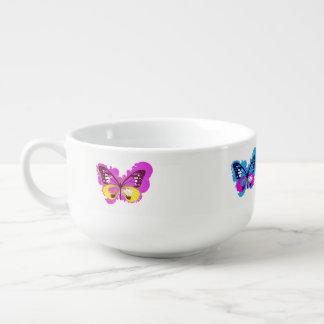 Pop Art Butterfly Soup Bowl