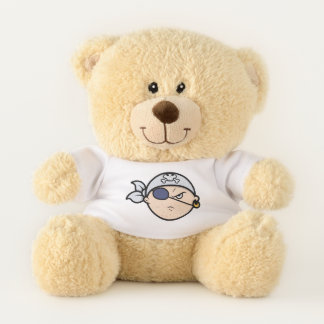 Pop Art Cartoon Pirate Teddy Bear