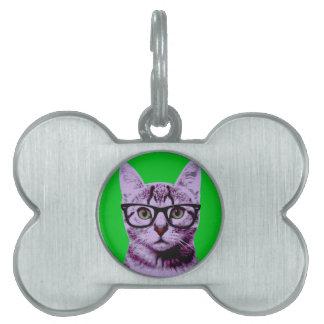 Pop Art Cat Pet Tag