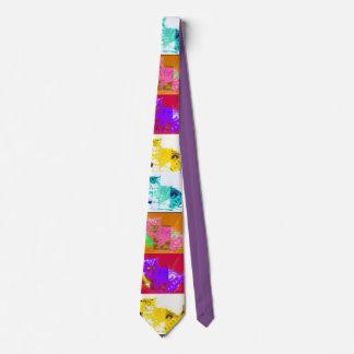 Pop Art Cat Tie