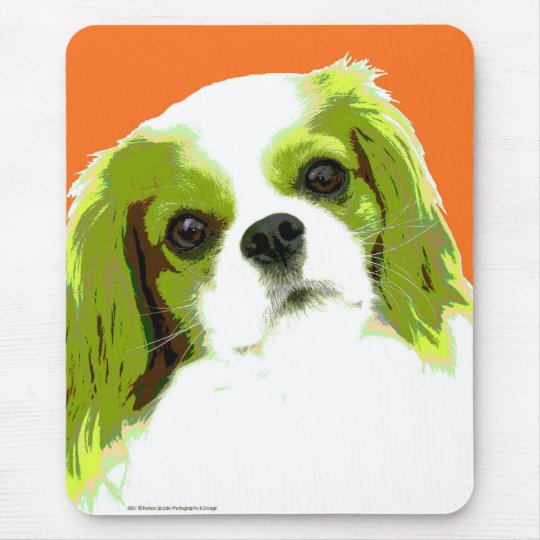 Pop Art Cavalier King Charles Spaniel Mouse Pad