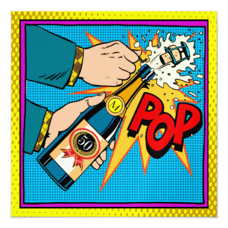 Pop Art Celebration by the Year Invitation