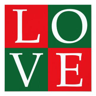Pop Art Christmas LOVE Card
