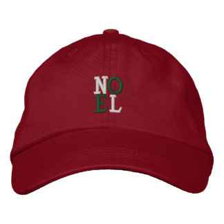 Pop Art Christmas NOEL Embroidered Hat