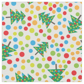 pop art christmas tree fabric