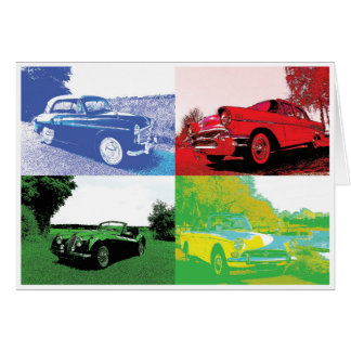 Pop Art Classic Car Card