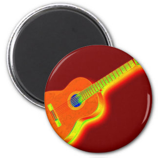 Pop Art Classical Guitar Magnet