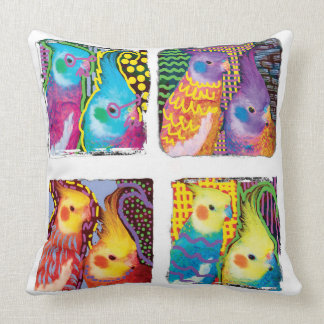 Pop Art Cockatiels pillow