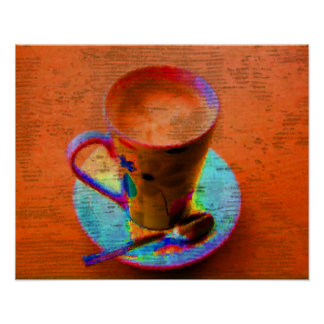 Pop Art Coffee Cup Poster Print