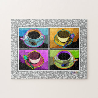 Pop Art Coffee Cups Puzzle