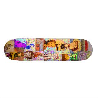 pop art collage skateboards