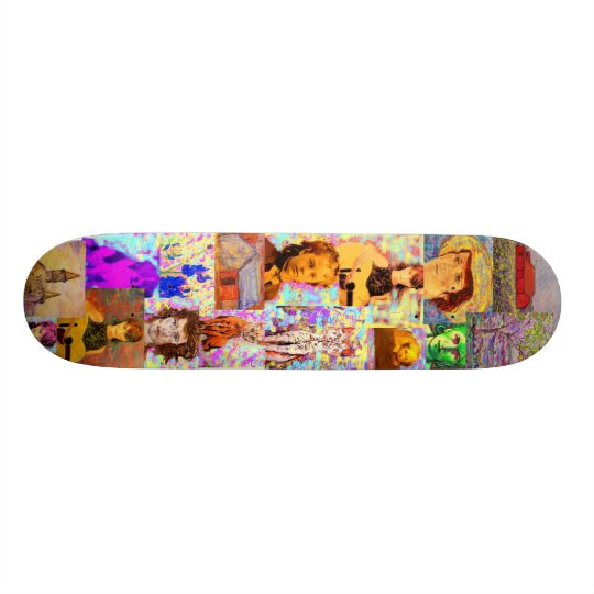 pop art collage skateboards