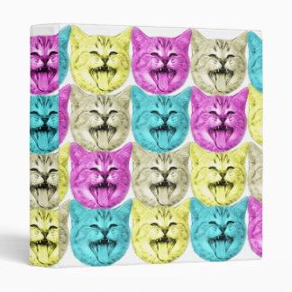 pop art color cat binders