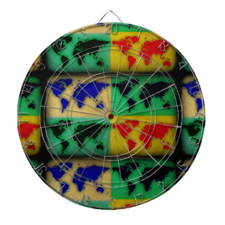 pop art color world map dartboard