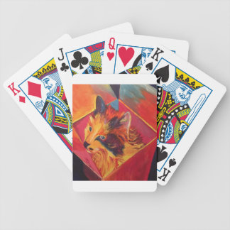 POP ART COLORFUL CAT BICYCLE PLAYING CARDS