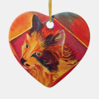 POP ART COLORFUL CAT CERAMIC ORNAMENT