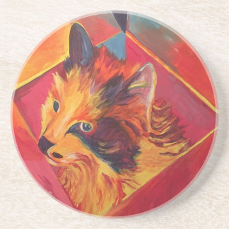 POP ART COLORFUL CAT DRINK COASTERS