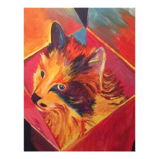 POP ART COLORFUL CAT PERSONALIZED LETTERHEAD